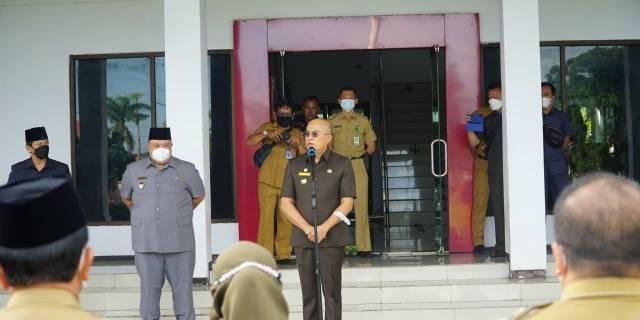 Apel Perdana, Bupati Imbau Semua OPD Dapat Berinovasi Dalam Meningkatkan Kesejahteraan Masyarakat