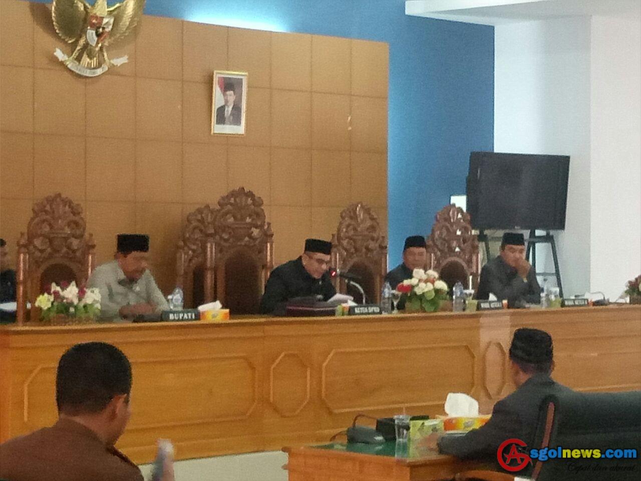 DPRD Bengkulu Utara Gelar Sidang Paripurna LKPJ Tahun 2017
