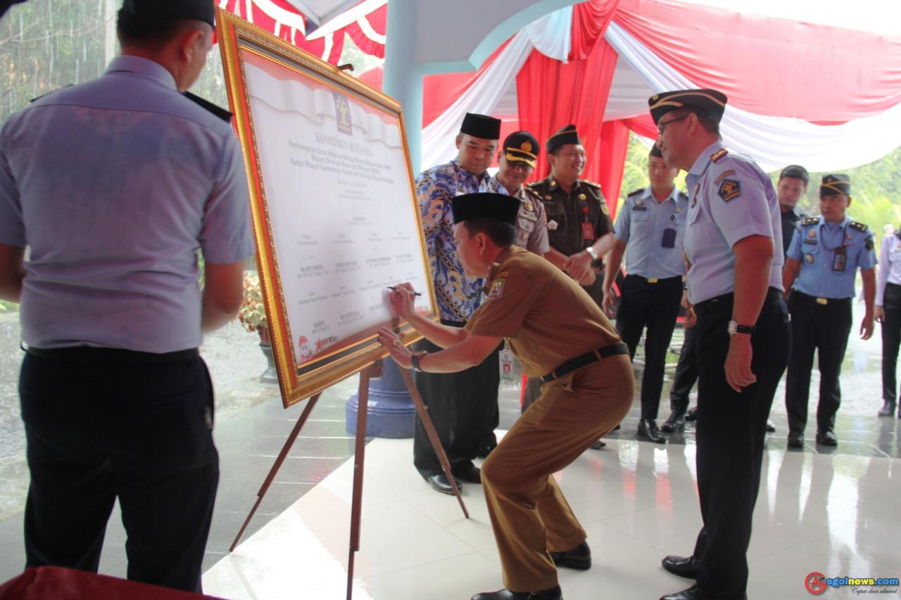 Demi Kinerja Bebas Dari korupsi Pemprov Apresiasi Deklarasi Janji Kinerja KemenKum-HAM Bengkulu