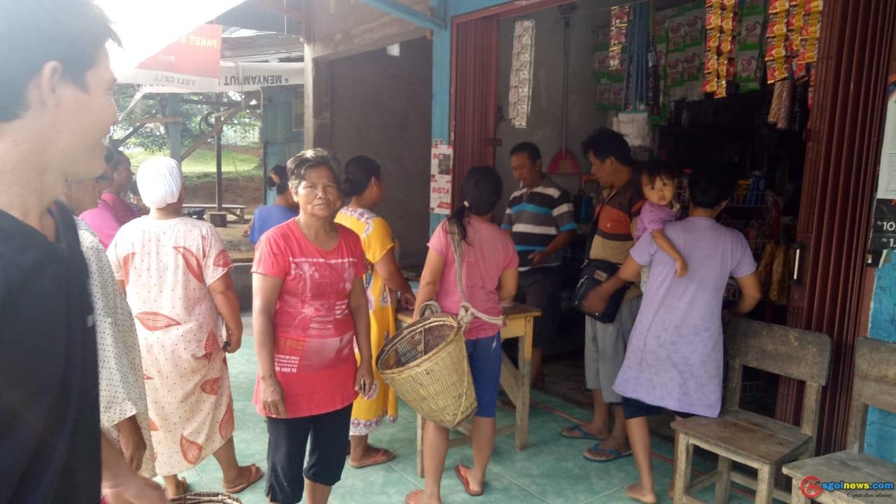 Pembagian Bantuan Non Tunai (BPNT), Desa Telatan Kecamatan Semidang Alas Kabupaten Seluma