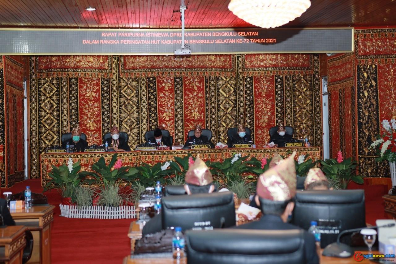 Rapat Paripurna Istimewa HUT ke 72 Bengkulu Selatan