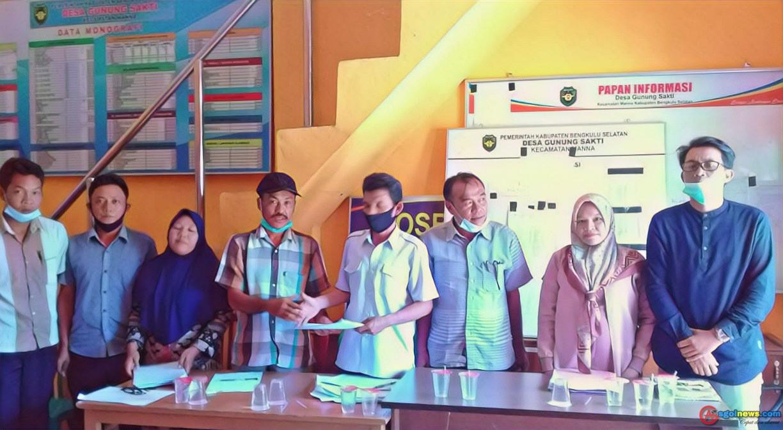 Desa Gunung Sakti Menetapkan Penerima Bantuan BLT DD Sebanyak 73 KK